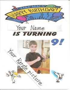 Karate Kid BDay Invitation 001