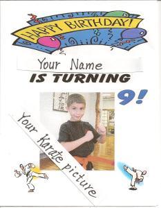 Karate Kid BDay Invitation 001